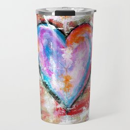 Reckless Heart, Abstract Painting Travel Mug