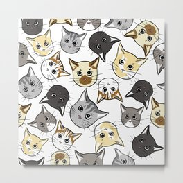 All The Cats Metal Print