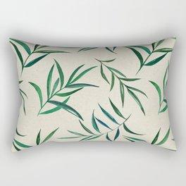 Watercolor seamless pattern on vintage paper. Rectangular Pillow