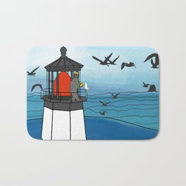Tuskadero Slim at his home in the Cape Meares Lighthouse from Flock of Gerrys Gerry Loves Tacos Bath Mat