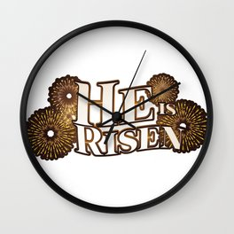 He is Risen Easter Christian Gift Wall Clock