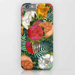 Old school roses iPhone Case