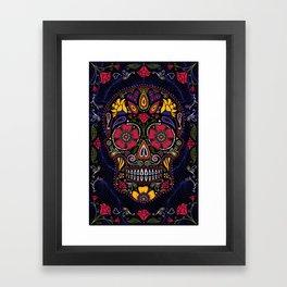 Day of the Dead Sugar Skull Framed Art Print