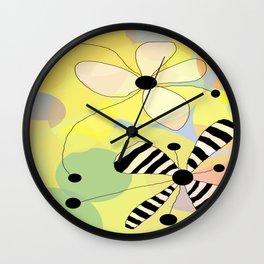 FLOWERY EDITH / ORIGINAL DANISH DESIGN bykazandholly Wall Clock