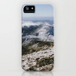 Cannon Mountain from Mt. Lafayette iPhone Case