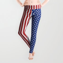 American Stars and Stripes Leggings