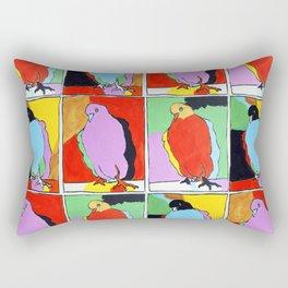 Three Pigeons Rectangular Pillow