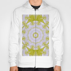 Green and white quilt kaleidoscope Hoody