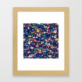 Flags of all US states Framed Art Print