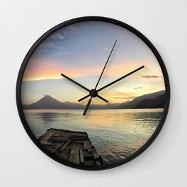 Lake Atitlan Sunsets Wall Clock