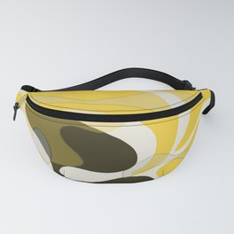 Yellow and Black Abstract Fanny Pack
