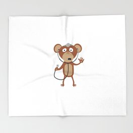 monkey doctor Throw Blanket