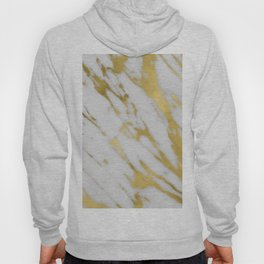 Gold White Marble Hoody