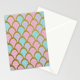 Mermaid Scales Golden Pastel Stationery Cards