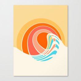 Sun Surf Canvas Print