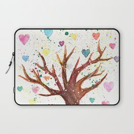 Heart Tree Watercolor Illustration Laptop Sleeve