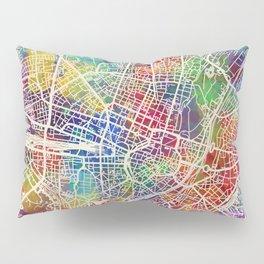 Munich Germany City Map Pillow Sham