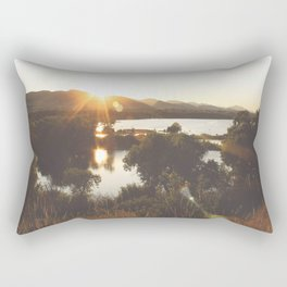 Golden Hour Glow Rectangular Pillow