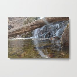 Cascade Falls with a ray of light Metal Print