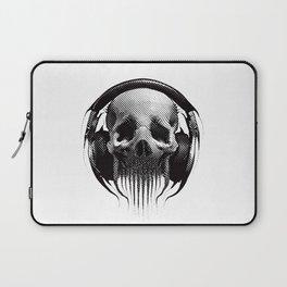 Alien Skull Listening to Music on Pro Beats Laptop Sleeve