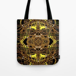 GOLDEN THREAD, twined hand drawn mirrored art Tote Bag