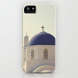 Greek Island Church  iPhone Case