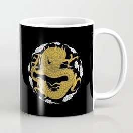 Traditional Gold Dragon Coffee Mug