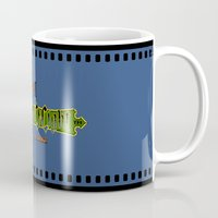 castlevania Mugs featuring Castlevania II - What a Horrible Night to Have a Curse by Aaron Campbell