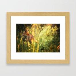 Fox and Hound Framed Art Print