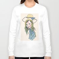 kate moss Long Sleeve T-shirts featuring Kate Moss by Sindecualo