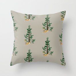 Forest Whimsy Throw Pillow