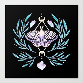 Moon Moth 01 Canvas Print