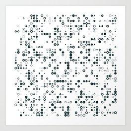 #128 binary Art Print