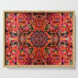 Coral Ornate Fusion Serving Tray