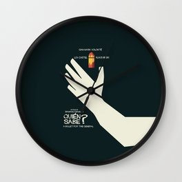 Quién sabe? Movie poster with Klaus Kinski, Gian Maria Volonté, Lou Castel - by Damiano Damiani Wall Clock