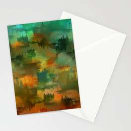 """""""Abstract forest in Autumn"""" Stationery Cards"""