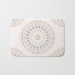 Cream Rose Mandala Bath Mat