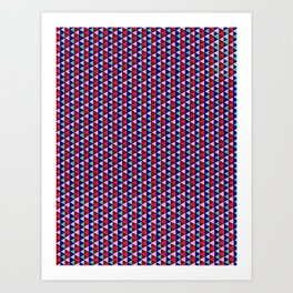 Triangle Argyle Stripes Art Print