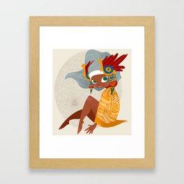 Aztec Diva Framed Art Print