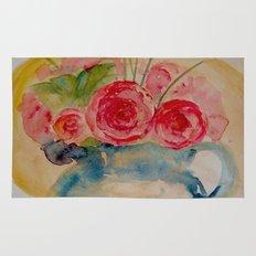 Flowers in a blue vase Rug