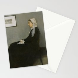 Whistlers Mother Oil Painting by James McNeill Whistler Stationery Cards