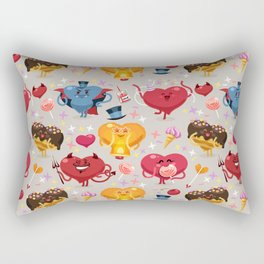 Valentines hearts pattern Rectangular Pillow