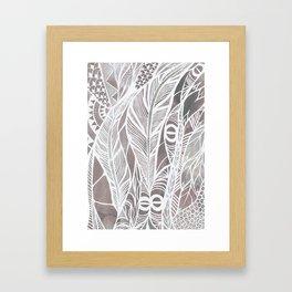 Earthy Feathers Framed Art Print