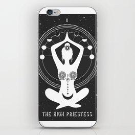 Minimal Tarot Deck The High Priestess iPhone Skin