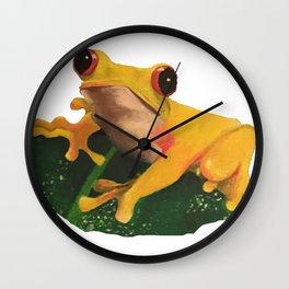 Yellow Frog Wall Clock