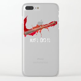 Negan & Lucille 2 Clear iPhone Case