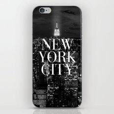 New York City Vogue Typography Manhattan Skyline iPhone & iPod Skin