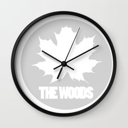 The Woods Leaf Wall Clock