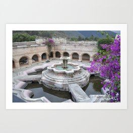 Antigua Guatemala Fountain Art Print