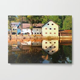 River reflections at the mill | waterscape photography Metal Print